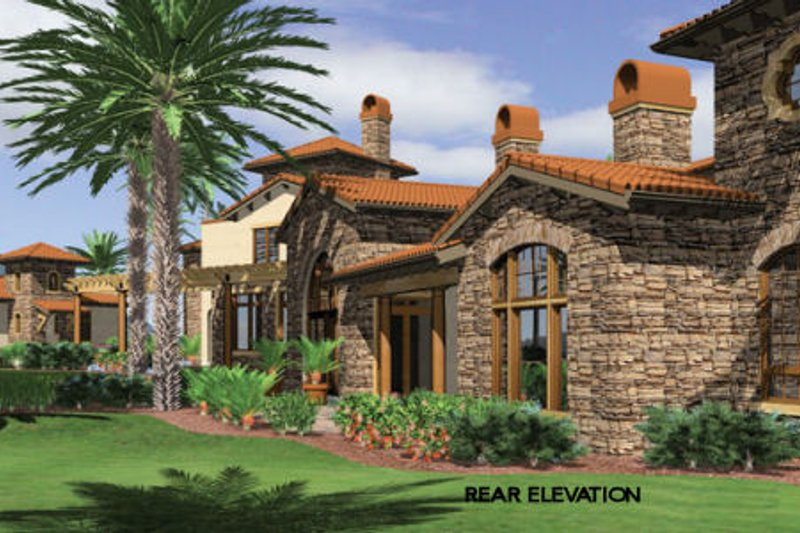 Mediterranean Exterior - Other Elevation Plan #48-361 - Houseplans.com