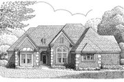 European Style House Plan - 3 Beds 3 Baths 2397 Sq/Ft Plan #410-151 Exterior - Front Elevation