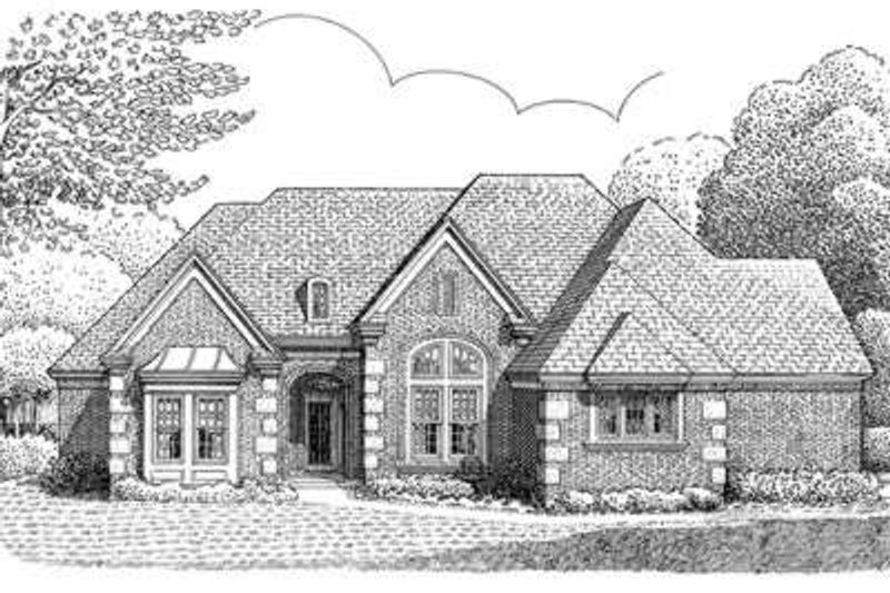 European Exterior - Front Elevation Plan #410-151