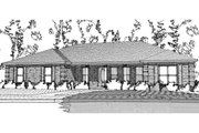 Ranch Style House Plan - 3 Beds 2 Baths 2042 Sq/Ft Plan #63-384 Exterior - Front Elevation
