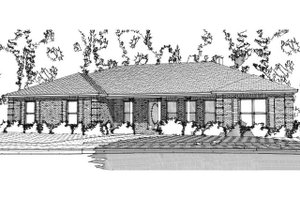 Ranch Exterior - Front Elevation Plan #63-384