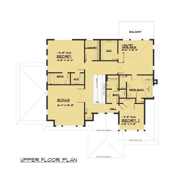 Contemporary Floor Plan - Upper Floor Plan #1066-80