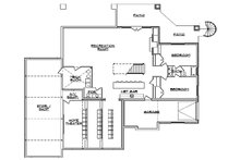 Floor Plan - Lower Floor Plan Plan #5-461