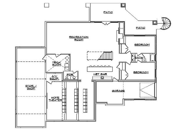 House Plan Design - Floor Plan - Lower Floor Plan #5-461