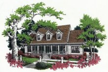 Southern Exterior - Front Elevation Plan #45-161