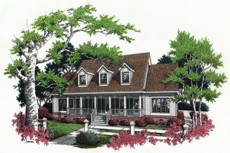 Southern Exterior - Front Elevation Plan #45-161 - Houseplans.com