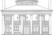 Classical Style House Plan - 4 Beds 3.5 Baths 4000 Sq/Ft Plan #72-188 Exterior - Rear Elevation