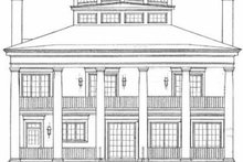 Classical Exterior - Rear Elevation Plan #72-188