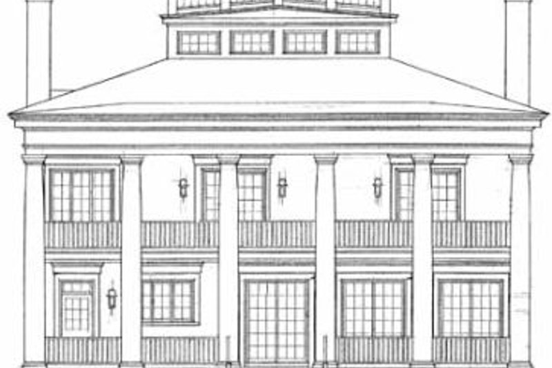 Classical Exterior - Rear Elevation Plan #72-188 - Houseplans.com