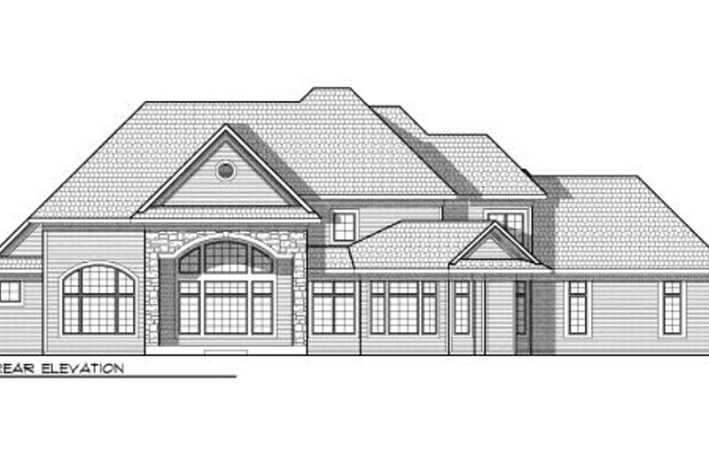 European Exterior - Rear Elevation Plan #70-959 - Houseplans.com