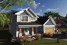 Craftsman Exterior - Front Elevation Plan #70-1250