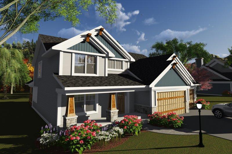 House Design - Craftsman Exterior - Front Elevation Plan #70-1250