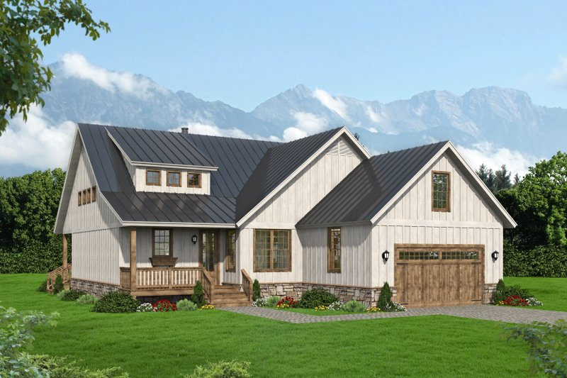 Architectural House Design - Traditional Exterior - Front Elevation Plan #932-418