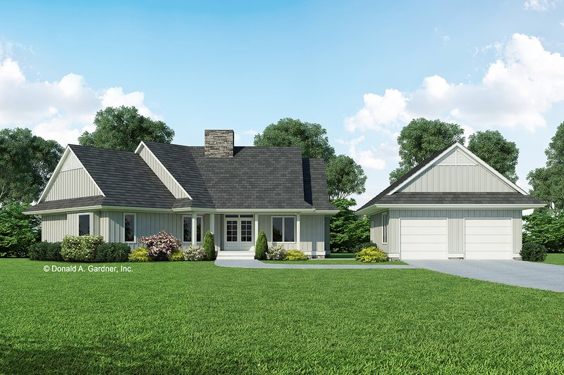 Country Exterior - Front Elevation Plan #929-270