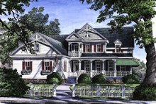 House Plan Design - Victorian Exterior - Front Elevation Plan #137-164