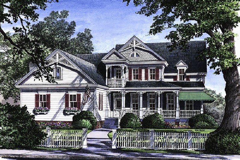 Victorian Exterior - Front Elevation Plan #137-164 - Houseplans.com