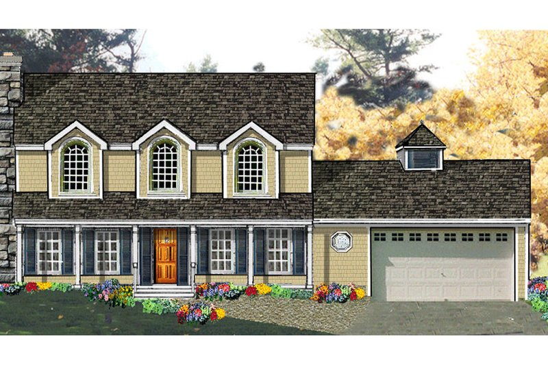 House Design - Country Exterior - Front Elevation Plan #3-234