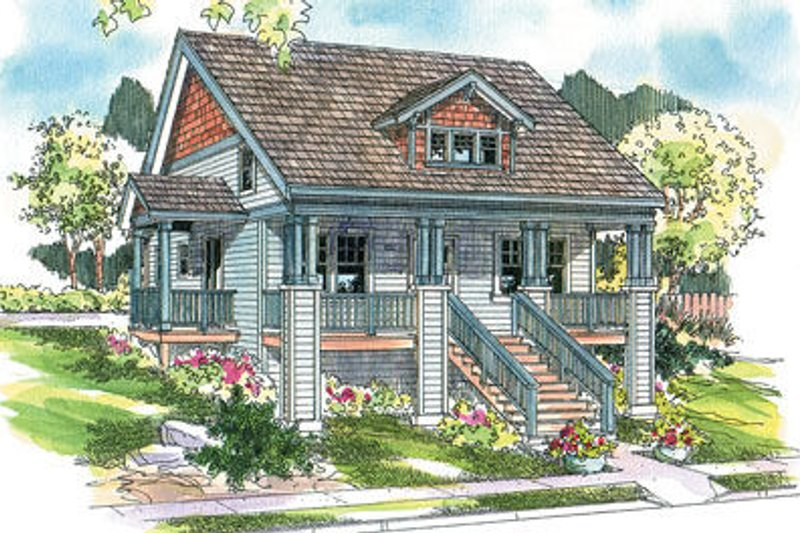 Country Exterior - Front Elevation Plan #124-616