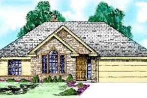 Architectural House Design - Traditional Exterior - Front Elevation Plan #52-104