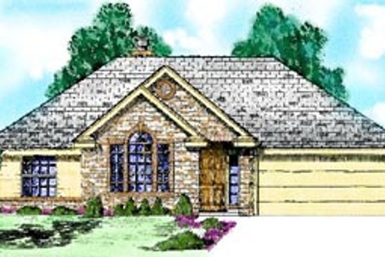Traditional Exterior - Front Elevation Plan #52-104