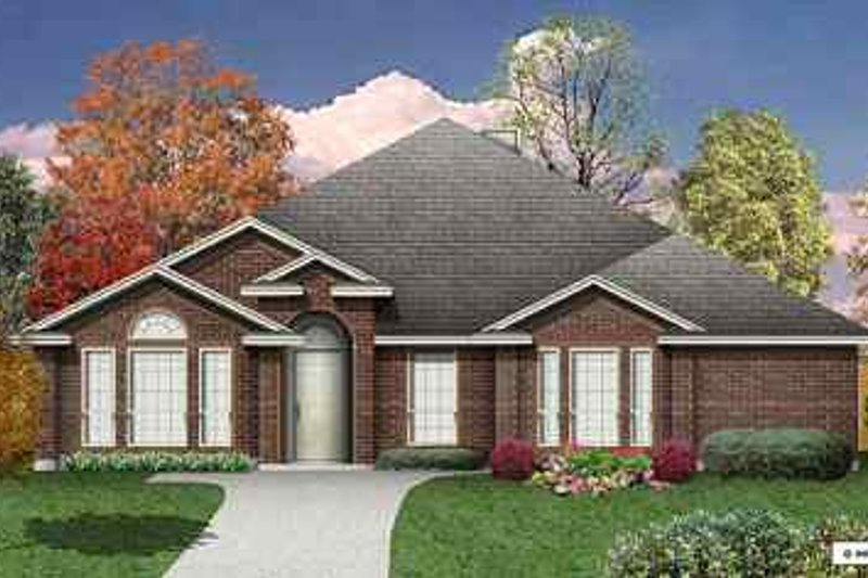 Traditional Exterior - Front Elevation Plan #84-135 - Houseplans.com