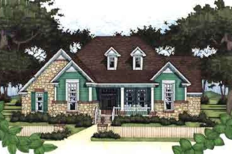 Country Exterior - Front Elevation Plan #120-158