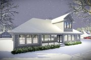 Ranch Style House Plan - 2 Beds 2.5 Baths 2096 Sq/Ft Plan #70-1461 Exterior - Rear Elevation