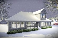 House Plan Design - Ranch Exterior - Rear Elevation Plan #70-1461