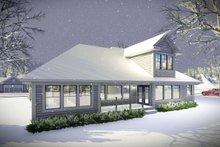 Architectural House Design - Ranch Exterior - Rear Elevation Plan #70-1461