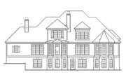 Traditional Style House Plan - 5 Beds 4.5 Baths 3482 Sq/Ft Plan #927-11 Exterior - Rear Elevation