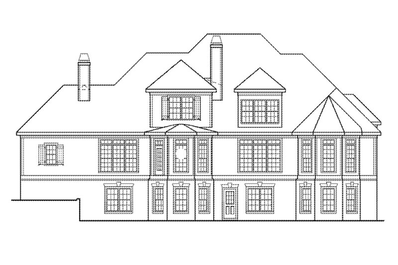 Traditional Exterior - Rear Elevation Plan #927-11 - Houseplans.com