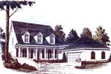 Country Exterior - Front Elevation Plan #37-204