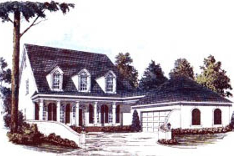 Architectural House Design - Country Exterior - Front Elevation Plan #37-204