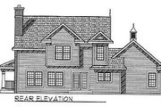 Traditional Style House Plan - 3 Beds 2.5 Baths 1790 Sq/Ft Plan #70-201 Exterior - Rear Elevation