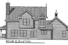 Dream House Plan - Traditional Exterior - Rear Elevation Plan #70-201