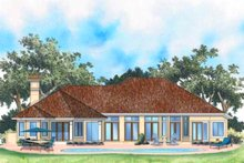 Mediterranean Exterior - Rear Elevation Plan #930-102