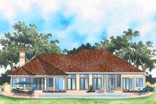 House Plan Design - Mediterranean Exterior - Rear Elevation Plan #930-102