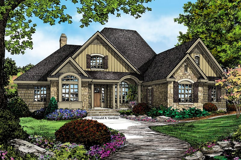 European Exterior - Front Elevation Plan #929-27 - Houseplans.com