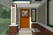 Craftsman Style House Plan - 2 Beds 2 Baths 1600 Sq/Ft Plan #454-13 Exterior - Covered Porch