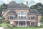 Traditional Style House Plan - 5 Beds 4.5 Baths 3806 Sq/Ft Plan #453-32 Exterior - Rear Elevation