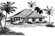 Cottage Style House Plan - 3 Beds 2 Baths 1334 Sq/Ft Plan #410-257 Exterior - Front Elevation