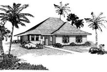 Dream House Plan - Cottage Exterior - Front Elevation Plan #410-257