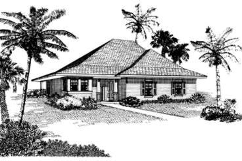 Cottage Exterior - Front Elevation Plan #410-257