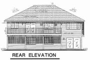 Traditional Style House Plan - 3 Beds 2 Baths 1510 Sq/Ft Plan #18-9247 Exterior - Rear Elevation