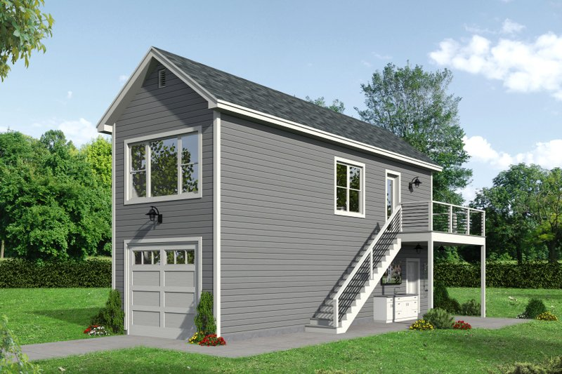 Country Exterior - Front Elevation Plan #932-291