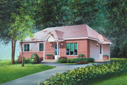 Classical Style House Plan - 3 Beds 1 Baths 1200 Sq/Ft Plan #25-4819 Exterior - Front Elevation