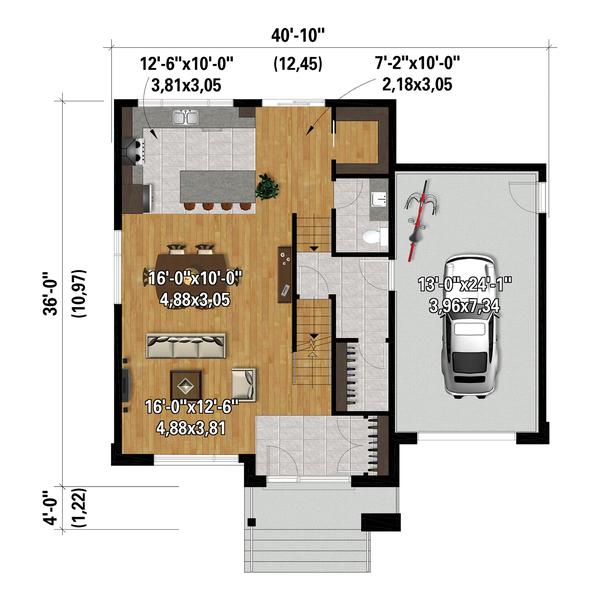 Dream House Plan - Contemporary Floor Plan - Main Floor Plan #25-4875