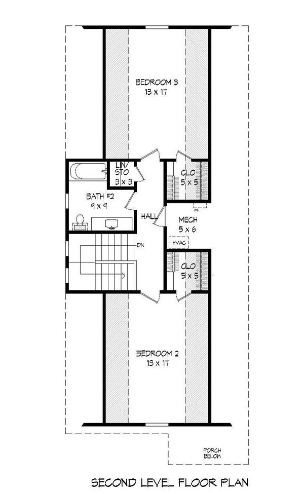 Cabin Floor Plan - Upper Floor Plan Plan #932-17