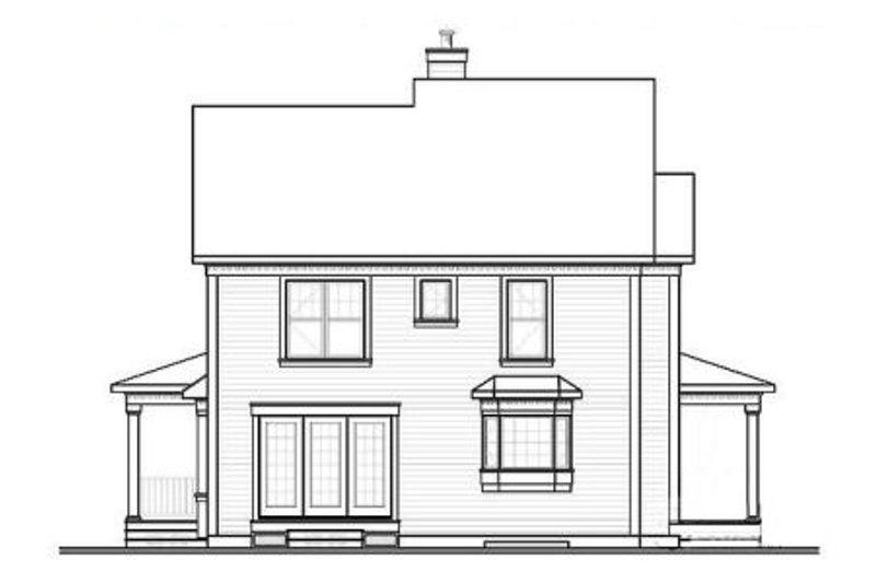 Country Exterior - Rear Elevation Plan #23-549 - Houseplans.com