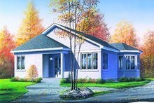 Home Plan - Traditional Exterior - Front Elevation Plan #23-114